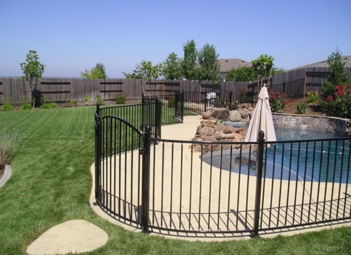 Iron Pool Fence Seattle Wrought Wa Commercial Security